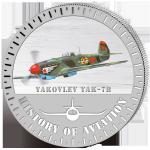 (2014) 5000F - Burundi - stříbrná - letadlo Yakovlev Yak-7b (proof)