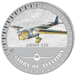 (2015) 5000F - Burundi - stříbrná - letadlo Amiot 143 (proof)
