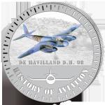 (2015) 5000F - Burundi - stříbrná - letadlo De Haviland D.H. 98 (proof)