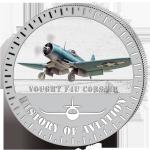 (2015) 5000F - Burundi - stříbrná - letadlo Vought F4U Corsair (proof)