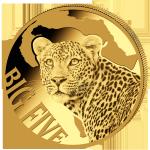 (2017) Kamerun - 100 Franků (Au) - Leopard (PROOF) zlatá