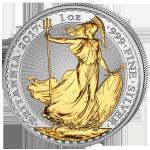 (2017) Velká Británie - 2 £ - Britania (proof) stříbrná se zlacením