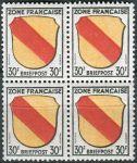(1945) MiNr. 10 ** - Francouzská zóna - 4-bl - Erb francouzských zemí