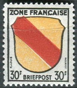 (1945) MiNr. 10 ** - Francouzská zóna - Erb francouzských zemí