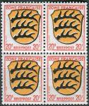(1945) MiNr. 8 ** - Francouzská zóna - 4-bl - Erb francouzských zemí