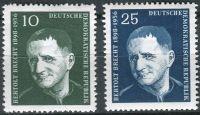 (1957) MiNr. 593 - 594 ** - DDR - 1. výročí smrti Bertolta Brechta