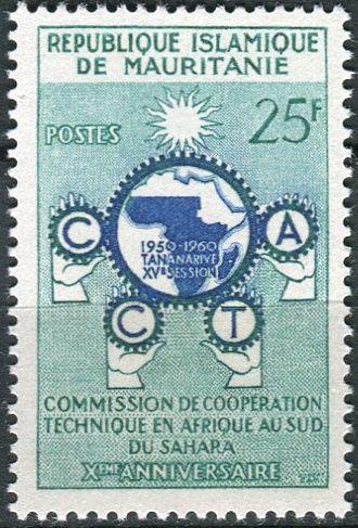 (1960) MiNr. 162 ** - Mauretanie - 10 let Komise pro technickou spolupráci subsaharské Afriky (CCTA)