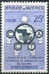 (1960) MiNr. 90 ** - Haute Volta - Obervolta - 10 let Komise pro technickou spolupráci subsaharské A