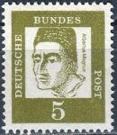 (1961) MiNr. 347y ** - Německo - Důležití Němci