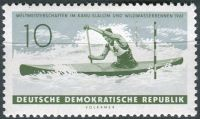 (1961) MiNr. 838 ** - DDR - Mistrovství světa v slalomu na kánoi a závodě na bílé vodě, červené Weis