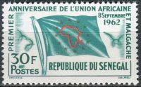 (1962) MiNr. 256 ** - Senegal - 1 rok africko-malgašská unie (UAM)