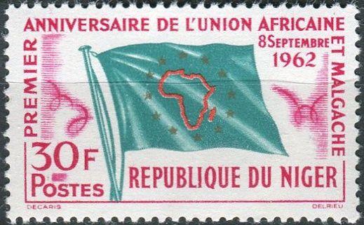 (1962) MiNr. 28 ** - Niger - 1 rok africko-malgašská unie (UAM)