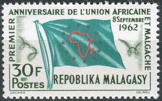 (1962) MiNr. 485 ** - Madagaskar - 1 rok africko-malgašská unie (UAM)