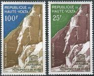 (1964) MiNr. 143 - 144 ** - Haute Volta - Obervolta - Kampaň UNESCO na ochranu nubijských památek