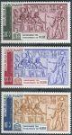 (1964) MiNr. 193 - 195 ** - Gabun - Kampaň UNESCO na ochranu nubijských památek