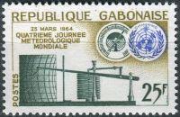 (1964) MiNr. 196 ** - Gabun - Světový den meteorologie