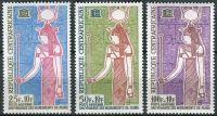 (1964) MiNr. 53 - 55 ** - Centrální Afrika - Kampaň UNESCO na ochranu nubijských památek