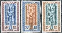 (1964) MiNr. 67 - 69 ** - Niger - Kampaň UNESCO na ochranu nubijských památek