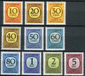 (1967) MiNr. 70 - 79 ** - Portugalsko - Portomarken - čísla v zaobleném čtverci