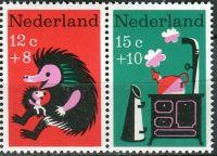 """(1967) MiNr. 888 - 889 ** - Nizozemsko - 2-bl - """"Dětem"""": dětské písně"""