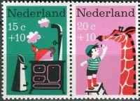 """(1967) MiNr. 889 - 890 ** - Nizozemsko - 2-bl - """"Dětem"""": dětské písně"""