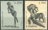 (1974) MiNr. 1067 - 1068 ** - San Marino - Europa: sochy
