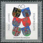 (1991) MiNr. 1528 ** - Německo - 700 let občanská práva pro Mayen, Welschbillig, Bernkastel, Montaba