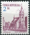 (1993) č. 13a ** - ČR - Městská architektura (výplatní známky) - tm. fialová