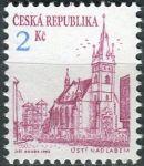 (1993) č. 13b ** - ČR - Městská architektura (výplatní známky) - sv. fialová