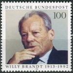 (1993) MiNr. 1706 ** - Německo - 80. narozeniny Willy Brandt
