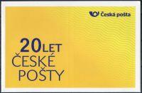 (2013) ZSn 783 - 784 ** - Vlastní známka - vzor 20 let České pošty, s.p. - deska 2