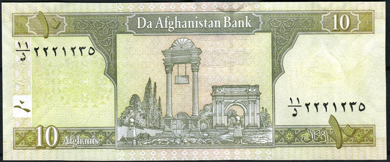 Afghánistán - (P 67d) 10 Afghanis (2008) - UNC