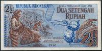 Indonesie - (P 79) - 2 1/2 Rupiah (1961) - UNC