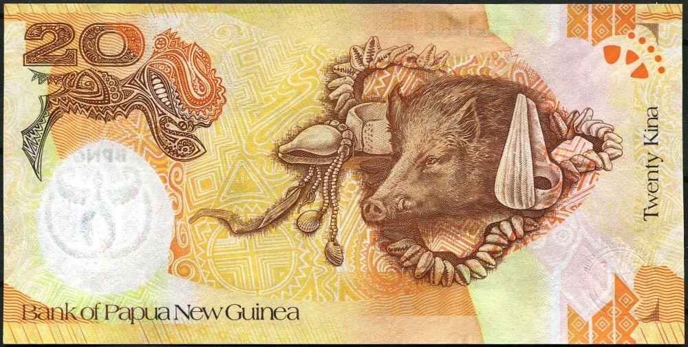 Papua Nová Guinea (P 36a) - 20 Kina (2008) - UNC