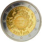 (2012) 2€ - Lucembursko - 10. výročí Eura