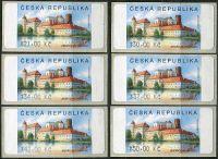 (2008) AU3-4 ** - Jindřichův Hradec 6 ks (21-50,-Kč)