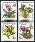 (1997) MiNr. 135 - 138 ** - Czech Republic - Protected Flowers