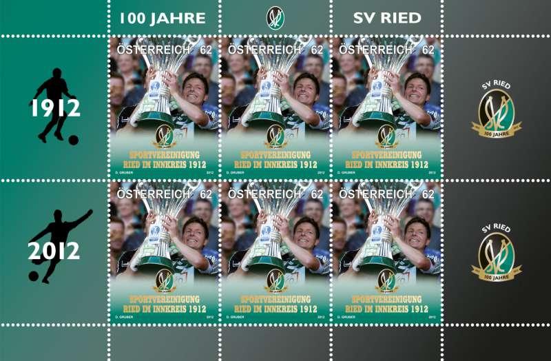 (2012) č. 2994 ** - Rakousko - PL - 100 Jahre SV Ried