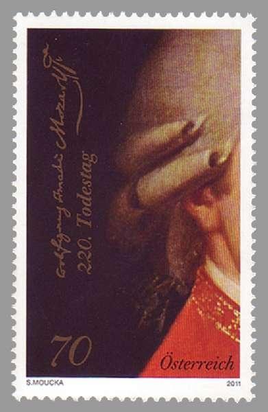(2011) č. 2970 ** - Rakousko - W. A. Mozart