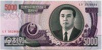 Severní Korea (P 46) - 5000 wonů (2006) - UNC