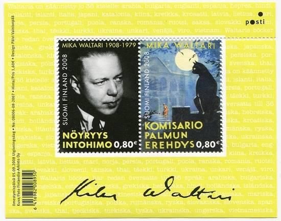 (2008) č. 1925 - 1926 ** - Finsko - BLOCK 50 - Mika Waltari