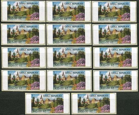 (2008) AU4-1 ** - Průhonice 14 ks (10-50,-Kč) Česká pošta