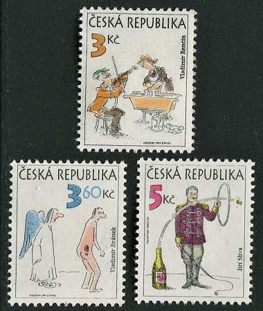 (1995) č. 83-85 ** - ČR - Český kreslený humor Česká pošta