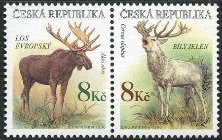 (1998) č. 181-182 ** - Česká republika - Los + jelen
