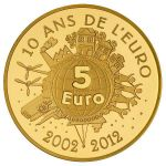 (2012) - 5 € Au - France – 10th Anniversary of Euro (proof)
