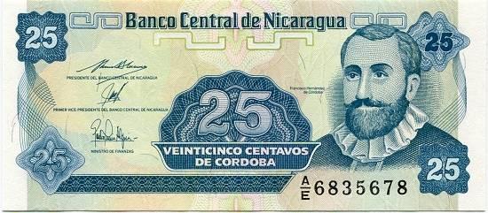 Nikaragua 25 centavos