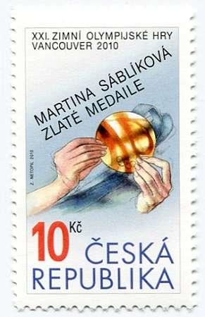 (2010) č. 626 ** - ČR - Martina Sáblíková Zlaté medaile