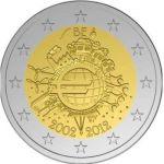 (2012) 2€ - Belgie - 10. výročí Eura