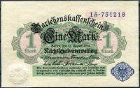 (1914) Ros. 51d / Pi. 52 - 1 Marka - UNC (sér. 15 z r. 1920)