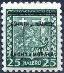(1939) č. 4 ** - B.u.M. - 25 h - přetisková série (zk.)